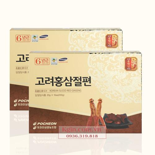 Sâm Thái Lát Tẩm Mật Ong Hàn Quốc 6 Năm Tuổi Cao Cấp Hộp 200gr